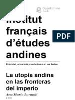 Etnicidad, economía y simbolismo en los Andes - La utopía andina en las fronteras del imperio - Inst