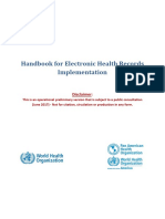 Handbook for Electronic Health Records Implementation WHO