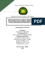 Nuevo Proyecto de Areas Verdes Del Colegio Tupac Amaru 1