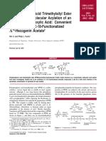 Polyphosphoric Acid Trimethylsilyl Ester Promoted Intramolecular Acylation of an Olefin by a Carboxylic Acid