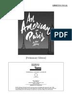 An American in Paris Script