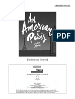 An American in Paris Script