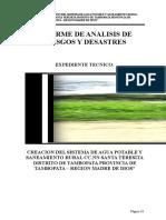 informe de análisis de riesgo