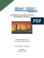 Matemáticas Aplicadas en Ingeniería Química - Tapias & Palacio - 2009