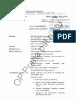 Finální audit Evropské komise - část 1
