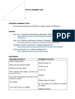 Prescriptive Descriptive Grammar Task
