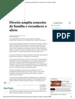 Direito Amplia Conceito de Família e Reconhece o Afeto - São Paulo - Estadão