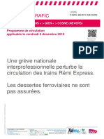Info Trafic Paris Bercy - Nevers Du 06-12-2019