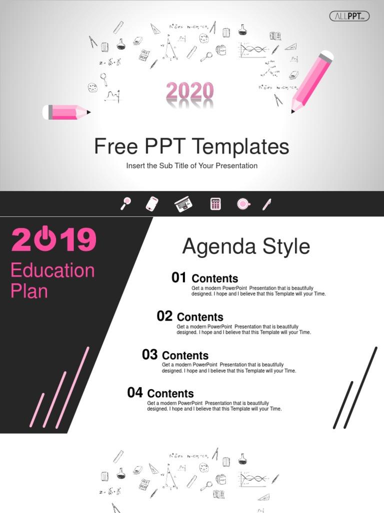 Template Ppt Pendidikan Keren 2020 Microsoft Power Point Infographics