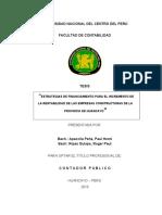 Estrategias de Financiamiento Para El Incremento de Las Empresas Constructoras de La Provincia De