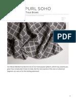 Mosaic Blanket in Trout Brown
