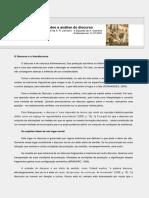 ANÁLISE DO DISCURSO - Fundamentos e Notas Introdutórias Sobre a Análise Do Discurso