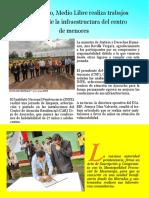 En Ayacucho, Medio Libre realiza trabajos de mejora de la infraestructura del centro de menores