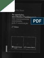 NOVAIS, Jorge Reis. as Restrições Aos Direitos Fundamentais