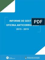 INFORME de GESTION Oficina Anticorrupcion 2015-2019