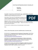 Google's Intellectual Property (IP) Regarding Computers, Computing, And Computational Methods