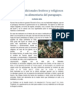 Alimentación y religiosidad del Paraguay