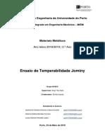 Relatório Materiais Metálicos