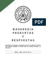 Preguntas y Respuestas Masonicas