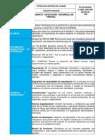 procedimiento de capacitación y desarrollo
