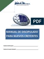 Manual de Discipulado para Nuevos Creyentes. Luis Mariano Cortés Vega