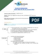 Plan Formation HACCP en Inter Entreprises