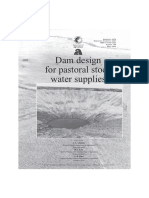 Dam design for stock water supplies