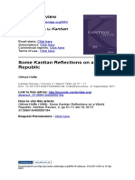 (4) Höffe, Otfried – Some Kantian Reflections on a World Republic (Pp 51-71)