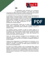 20191206 Manifiesto 41 Años de Constitución