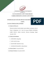Informe de Ejecución Doctrina Social II 1