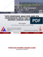 """""""SITE RESPONSE ANALYSIS AND ITS COMPARISON WITH THE PERUVIAN SEISMIC DESIGN SPECTRUM"""""""