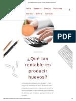 ¿Es Rentable Producir Huevos_ - Avicola de Gallinas Ponedoras