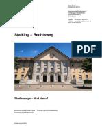 K 2016 Stalking Rechtsweg