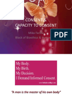 consent and capacity to consent