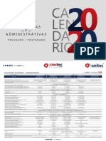 Calendario Acad_mico y Administrativo 2020 UNITEC-CEUTEC