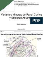 04- Variantes Mineras de Panel Caving y Esfuerzo Abutment