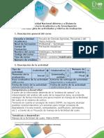 Guía de Actividades y Rúbrica de Evaluación - Unidad 1,2 y 3 -Tarea 6 - Construcción de Propuesta de Manejo de La Fertilidad Del Suelo a Partir de Matriz DOFA