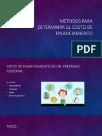 Métodos Para Determinar El Costo de Financiamiento