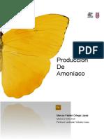 Producción de Amoníaco, Informe Alum. Marcos Fabián Ortega López Química Industrial