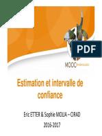5.2 Estimation Et Intervalle de Confiance