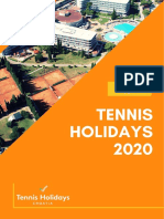Tennis Holidays 2020 Catalog