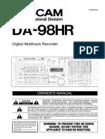 Tascam DA98HR manual