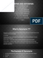 Synonyms and Antonyms Ppt