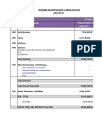 Excel para análisis de presupuesto