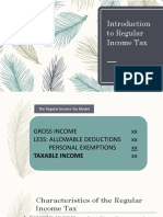 Introduction to Regular Income Tax