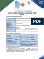 Guía actividades y Rúbrica de evaluación - Fase 6. Controlar y Valorar - Seguimiento y evaluación final trabajo realizado.docx