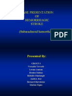 Case Presentation of Hemorrhagic Stroke Subarachnoid Hemorrhage