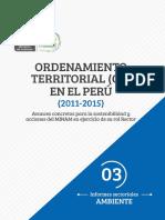 Ordenamiento Territorial en El Perú 2011 2015