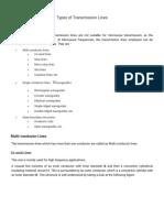 Types of Transmission Lines - Tutorialspoint
