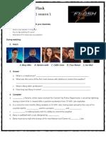 The Flash Serie Worksheet Video Movie Activities 87663